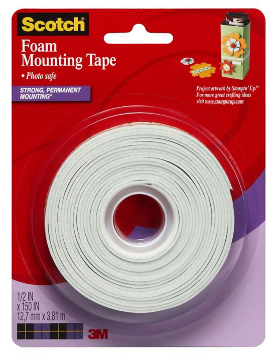 3m Scotch Foam Mounting Tape 1 2 Quot X 150 Quot Double Sided