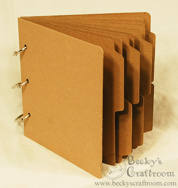Quot x mini tabbed chipboard album pages rings